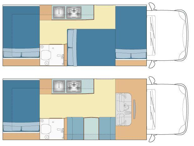 NT Deluxe 6Berth Day and Night Configurtion view 1