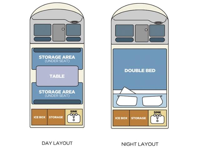 The floorplan - Night Time.